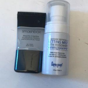 smashbox photo finish primer & supergoop set spray